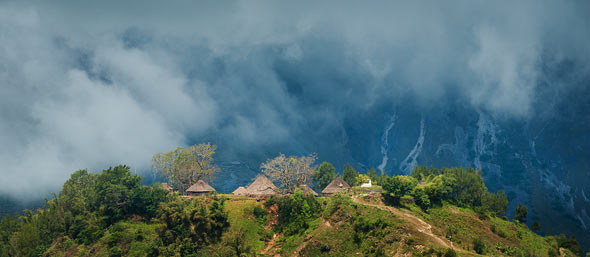 Timor highlands village